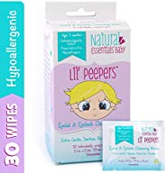 Natural Essentials Lil' Peepers 婴儿眼睑和睫毛清洁湿巾,