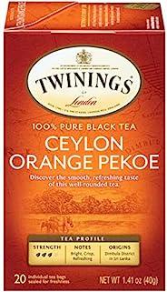 Twinings 川宁 伦敦锡兰橙白毫茶包,20袋(6包),1.41盎司,40克