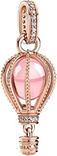 闪闪发光的粉色热气球吊饰