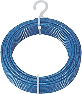 TRUSCO 带电镀钢丝绳 PVC覆盖型 Φ9(11)mmX20m CWP9S20