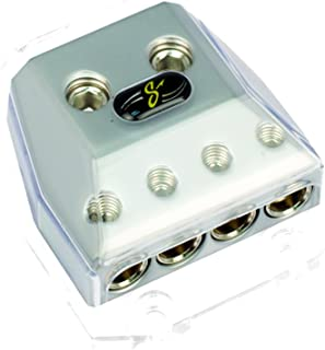 Stinger SHD21 HPM Series Power or Ground Distribution Block with Satin Chrome Finish
