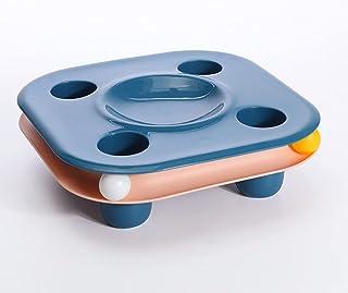 新款多功能猫粮盆小猫轨道玩具集成二合一宠物游乐食品盆