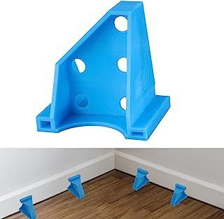 *地板垫片、层压木地板工具、兼容乙烯基板、硬木和浮地板安装等、硬木地板 w/1/4 和 1/3 间隙、特殊三角固定位置(15,蓝色)