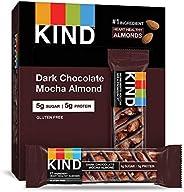 KIND 能量棒 黑巧克力抹茶杏仁,無麩質,低糖,1.4盎司/約40克,12支
