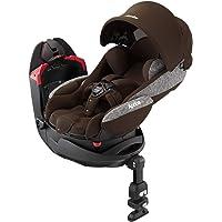Aprica(阿普丽佳) 回转式「床型」儿童座椅 花冠 棕木色 BR 【侧突事故考慮设计 + 弯曲遮阳篷DX + 护踝…