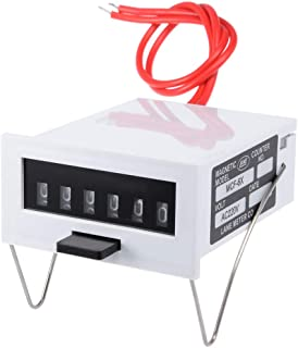 uxcell MCF-6X AC220V 6位 0-999999显示电磁计数器继电器控制