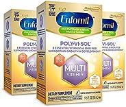 meadjohnson 美赞臣 enfamil 铂睿 Vi-Sol 复合维生素滴剂补充剂,含铁,50毫升(3瓶)
