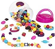 B.Toys 比乐 波普珠珠 创意DIY无绳串珠玩具 手工益智 项链手链 女孩 150粒装 无需线 婴幼儿童益智玩具 礼物 4岁+ BX1232Z