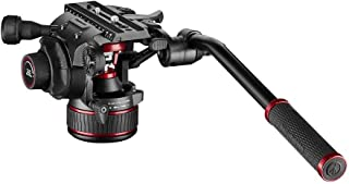 Manfrotto 富图 Nitrotech 流体视频头,DSLR,无镜,视频和影院相机 - 连续平衡系统 0-8 kg - 可变连续液体阻力装置 - 8 千克负载 - MVH608AH