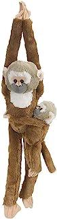 """Wild Republic Douc Langur 婴儿毛绒玩具,猴子填充动物,毛绒玩具,送给孩子的礼物 松鼠猴子 w/Baby 20 """"英寸 悬挂"""