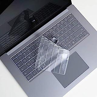Lapogy 键盘保护套,适用于 Microsoft 微软 Surface Laptop 3 13.5 英寸保护膜,2019 年发布的 13.5 英寸和 15 英寸软触摸 TPU 键盘膜,Surface 笔记本电脑 3 个配件