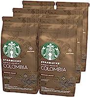 STARBUCKS 星巴克 Single-Origin Colombia 烘烤咖啡粉,中度烘培,(6 x 200g)