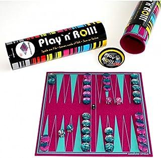 Weiblespiele 06227 Backgammon 'Play 'N' ROLL' 羊毛毡,带*玻璃游戏石