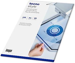 inapa Overheadfolie tecno Style - 用于演示的可打印的 OHP 薄膜,DIN A4,20 张薄膜,透明