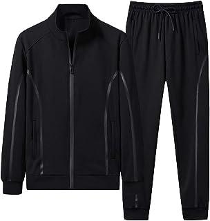 Mallimoda 男式运动服休闲 2 件套运动慢跑套装全拉链运动运动服