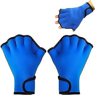 YMLHOME 1 双水上游泳手套训练游泳手套氯丁橡胶防水网状手套男女成人水上健身训练