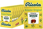 Ricola Kr?uter Original, Schweizer Kr?uterbonbon, 10 x 50g B?xli, ohne Zucker, Wohltuend für Hals und Stimme*