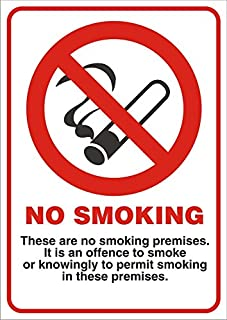 Seco No Smoking - These Are No Smoking Premises。It Is An Offence To Smoke Or Knowingly to Permit Smoking In These Premises...