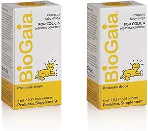 BioGaia Protectis 婴儿益生元补充剂滴剂,有益于吸收 - 5毫升,2 瓶[包装可能有所不同]