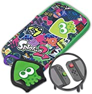 Hori Splatoon 2 Nintendo Switch游戏机套 泼溅贴图