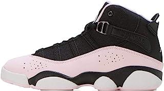 Jordan 323431-006:儿童 6 环黑色/粉色泡沫-烟煤鞋