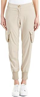 James Jeans 女士男友款修身休闲工装裤,沙卡其色
