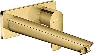 Hansgrohe 汉斯格雅 Talis E 隐藏式安装(水龙头带出水口长度225毫米用于墙面安装)抛光金色光学