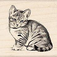 Inkadinkado Little Kitten Wood Stamp