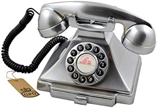 GPO 1929 S Classic Carrington 复古按压式电话 20 年代设计 带可伸缩抽屉 - 镀铬