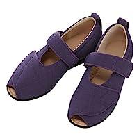 护理鞋 あゆみ オープンマジックIII 施設・院内用 紫 Sサイズ 21.0-21.5cm 足囲5E 両足