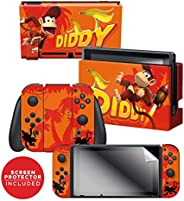 "Controller Gear 任天堂切换皮肤和屏幕保护膜套装 - 唐老公功夫 - ""Diddy Kong Blast Off"" - 任天堂开关"