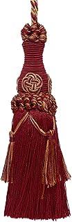 DÉCOPRO 装饰 6 英寸钥匙流苏 酒红色灰褐色 巴洛克风格 # BKT 颜色:8612 - 蔓越莓收获