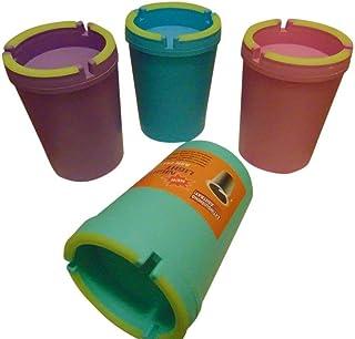 汽车产品 H 2 PK- Jumbo- 在黑暗中发光霓虹色杯 - SELF EXTINGUISHING 香烟烟烟烟灰缸 - 桶 - 便携式烟灰缸 - 各种随机发货颜色(2)