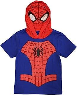 Marvel Avengers 男童连帽 T 恤,带面具