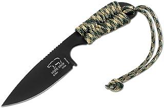 WHITE RIVER M1 背包式黑色离子涂层刀片沙漠迷彩伞绳手柄刀