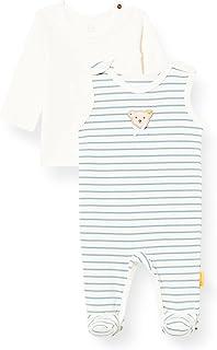 Steiff 女婴套装 连身衣 + T 恤长袖内衣
