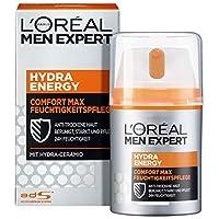 L'Oréal Paris 巴黎欧莱雅 男士专家 Hydra Energy 劲能极润保湿面霜 保湿不油腻 适合干燥敏感的男性皮肤,可作为日霜/晚霜,1瓶/50ml