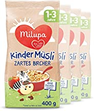 Milupa 幼儿麦片 瑞士原味(Bircher) 适用于1-3岁幼儿,4包装(4 x 400g)
