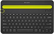 Logitech 罗技 多功能智能设备 蓝牙键盘K480-黑 支持Ipad