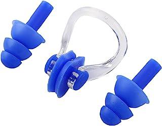 Water Foxy 游泳耳塞和鼻夹 - 舒适柔软的硅胶鼻嘴和耳塞,成人或儿童均适用 - 适合业余和经验丰富的游泳者