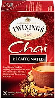 Twinings 川宁去咖啡因印度香料茶,20 包/盒(6 盒装)