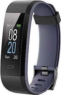 icefox 健身手环、健身追踪器智能手表、防水 IP67 蓝牙活动追踪器,带心率监测器、心率监测器和计步器
