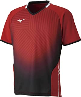 MIZUNO 美津浓 乒乓球服 比赛衫 短袖 标准 Dynamotion Fit 吸汗速干 JTTA 82JA9001 男士