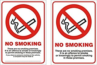 Seco 烟雾 - 这不是抽烟储藏品。 It Is An Offence To Smoke or Knowingly To Permit Smoking In these Premises mit Observe盾 1-mm-halbfeste...
