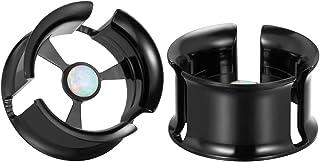 COOEAR 1 对*耳道肉塞穿孔耳环不锈钢耳规 0 克至 1 英寸。