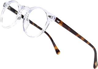 ERD 复古圆形大框眼镜男式女式复古锁眼圆框*透明镜片眼镜