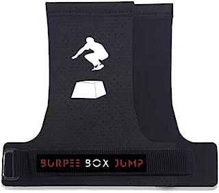 Burpee Box Jump 无孔手握 无指速度握把 – 用于举重、上拉、交叉训练、WOD 和体操的手柄,防止撕裂,男女皆宜