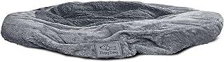 Floppy Dawg 圆形枕垫狗床替换罩。适合*好的朋友、MixJoy、Focuspet 和PuppBudd、凸起的边缘、枕头侧型号。可机洗,贴合一脚蹬。中号至 30W