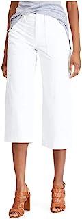 Chaps 女式 Giseller 七分裤,4 码白色