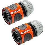 Gardena 嘉丁拿软管连接器套装 13 毫米(1/2 英寸)和 15 毫米(5/8 英寸):连接软管,快速方便连接…